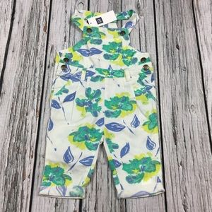 Gap Girls 3-6 month floral coverall romper